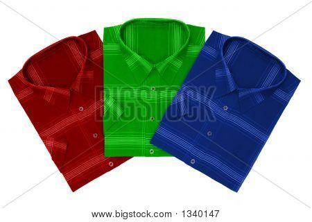 Three Shirts (Red, Green, Blue)