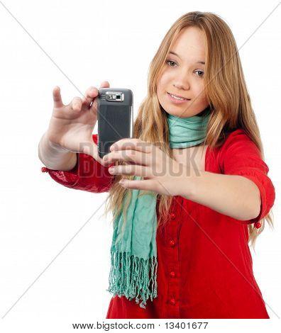 Teenage Girl With Phone