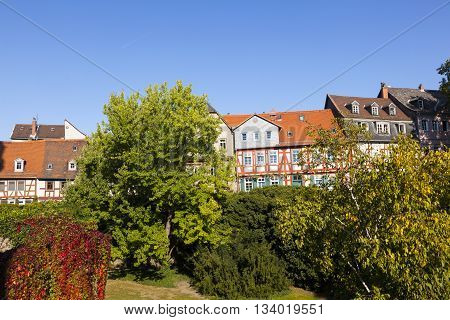 beautiful half timbered houses in Frankfurt Hoechst