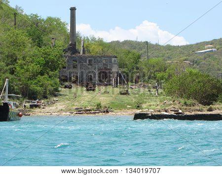 Abandoned Rustic Cinder Block Structure in St. Maarten