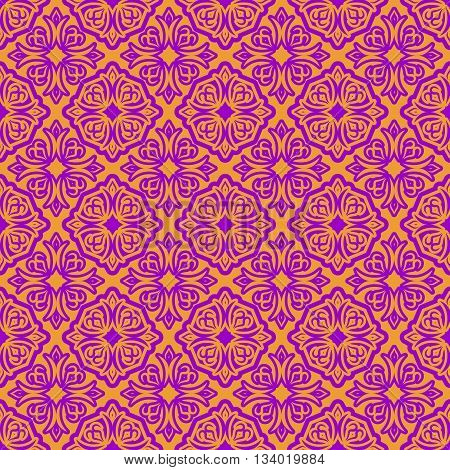 Oriental Style Islam Seamless Pattern. Holiday Of Ramadan Mubarak Background. Arabian Decoration Tex