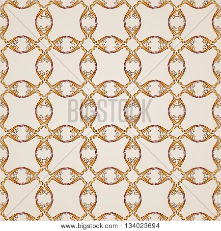 Saturated seamless abstract floral pattern in the form of mesh