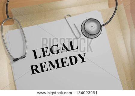 Legal Remedy Medical Concept