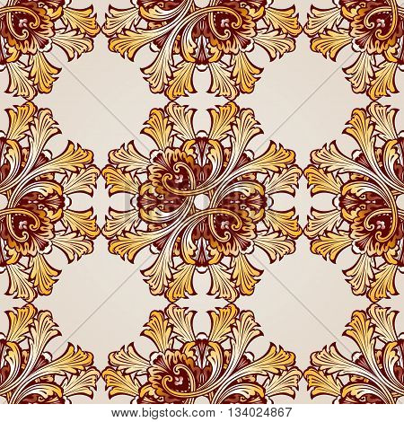 Seamless abstract floral pattern in the form of saturated mesh