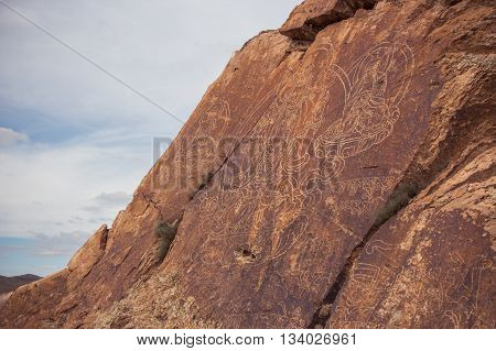 The Petroglyph on Tamgaly-Tas Kazakhstan 2016 may