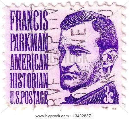 Usa - Circa 1967: A Stamp Printed In Usa Shows Portrait Of Francis Parkman (1823-1893) Historian, Ci