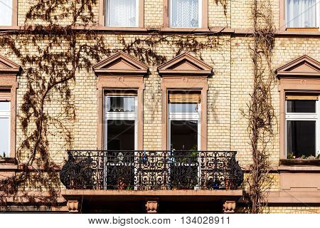 Facade Of An Old House With Window