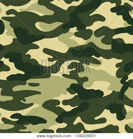 Vector military camouflage seamless pattern green colors