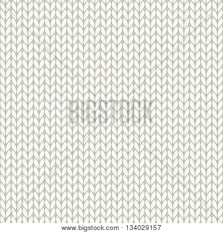 White knitted seamless pattern knit stockinette stitch