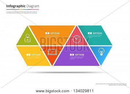 Diagram Template Organization chart template. flow template blank diagram for replace text white color Circle diagram vector stock design. (blank)