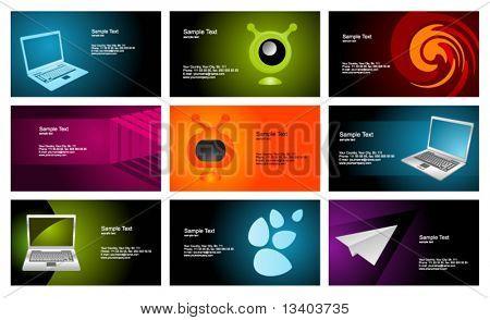 Business cards set 24
