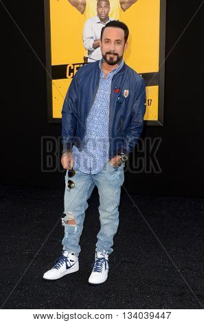 LOS ANGELES - JUN 10:  AJ McLean at the Central Intelligence Los Angeles Premiere at the Village Theater on June 10, 2016 in Westwood, CA