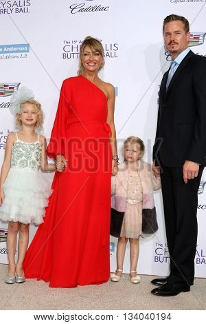 LOS ANGELES - JUN 11:  Billie Beatrice Dane, Rebecca Gayheart, Georgia Dane, Eric Dane at the 15th Annual Chrysalis Butterfly Ball at the Private Residence on June 11, 2016 in Brentwood, CA