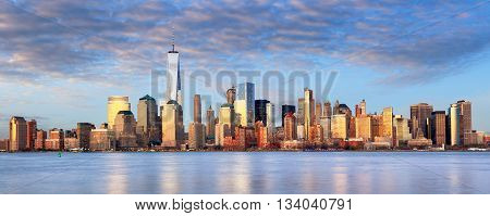 New York cityscape USA at a day.