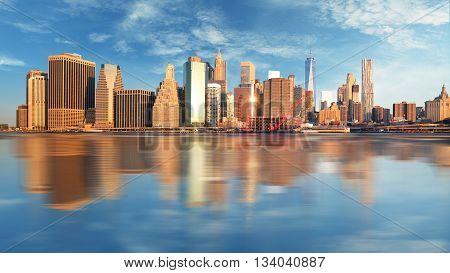 Manhattan at sunrise New York at a sunrise.