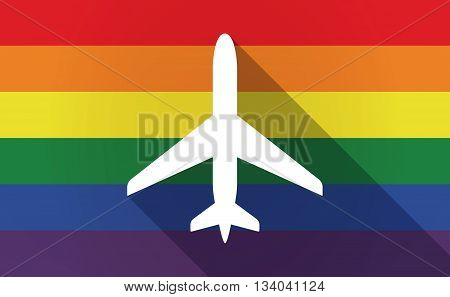 Long Shadow Gay Pride Flag With