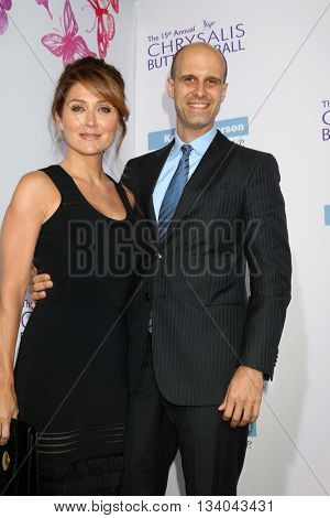 LOS ANGELES - JUN 11:  Sasha Alexander, Edoardo Ponti at the 15th Annual Chrysalis Butterfly Ball at the Private Residence on June 11, 2016 in Brentwood, CA