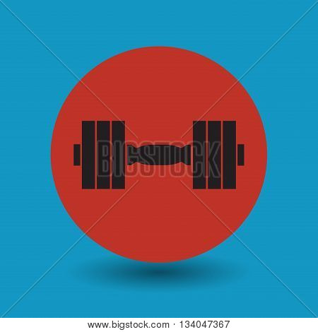 Abstract Dumbbells symbol or sign, vector illustration