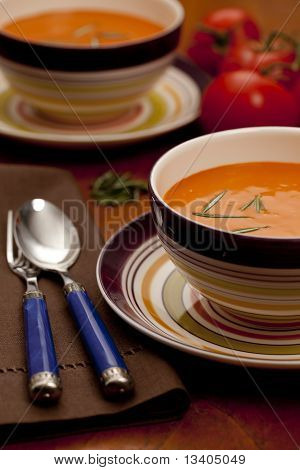 Fresh Tomato Soup with Rosemary