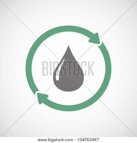 Reuse Line Art Sign With A Fuel Drop