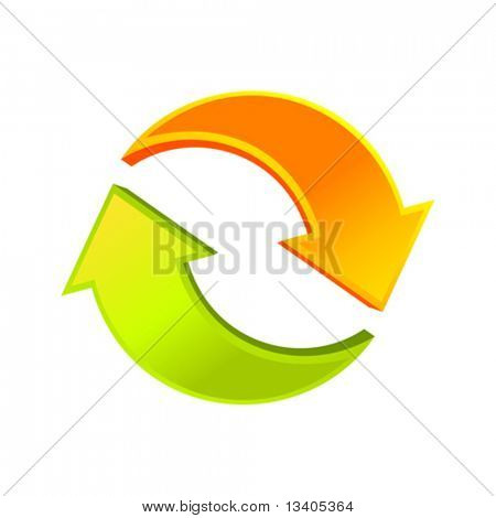 Recycle vector arrows