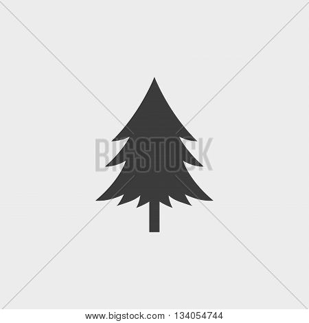 Spruce icon in a flat design in black color. Vector illustration eps10
