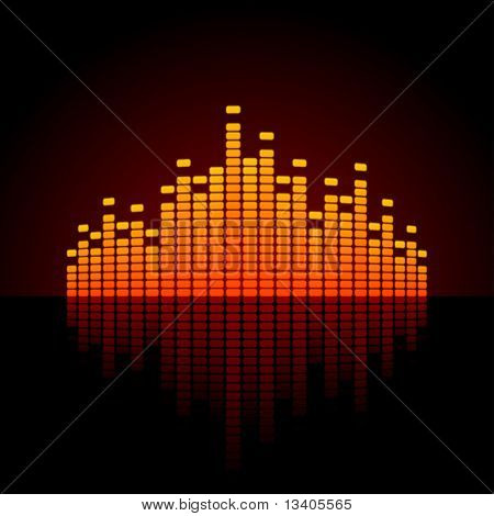 Equalizer vector background
