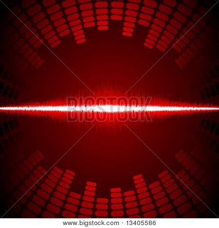Equalizer with waveform vector background