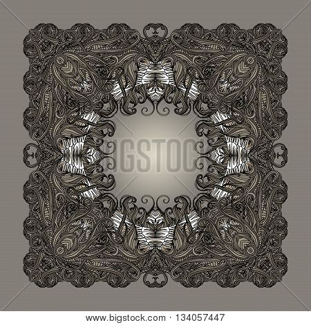 Frame Entangled Border Grey