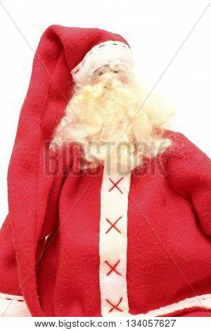 Santa - close-up portrait on white backgroun