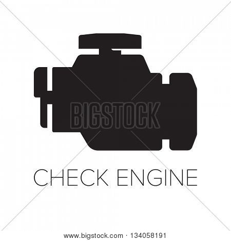 Check Engine icon/ symbol // Black & White