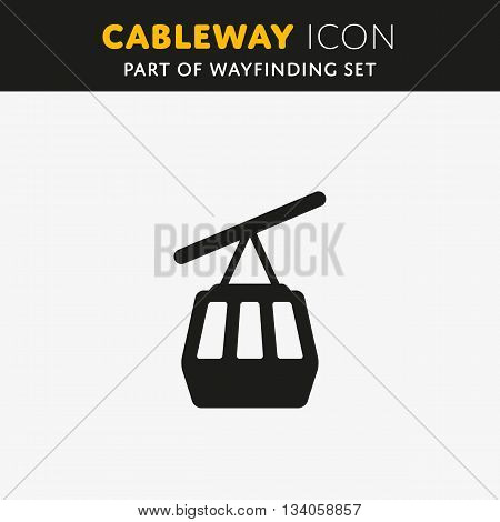 Vector Funicular icon. Cableway sign. Illustration symbol