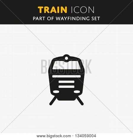 Train icon. Railway Sign. Transport symbol Vector illustration