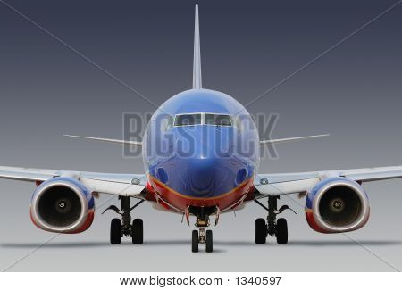 Southwest Airlines Airplane With Clipping Path