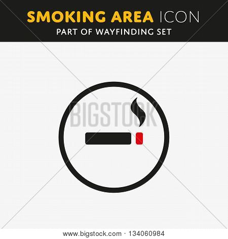 Vector smoking icon. Cigarette sign. Nicotine symbol