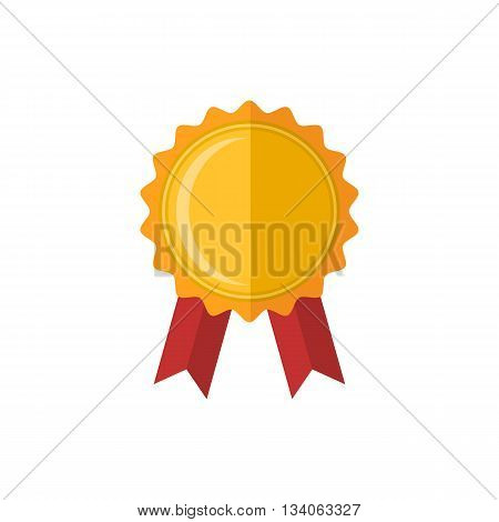 Medal icon.Vector medal award icon in flat style isolated on a white background