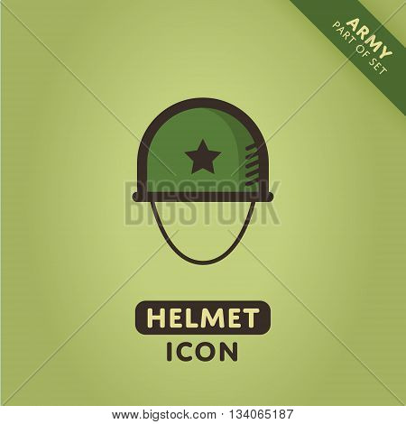 Vector Soldier helmet icon. Military sign. Army symbol