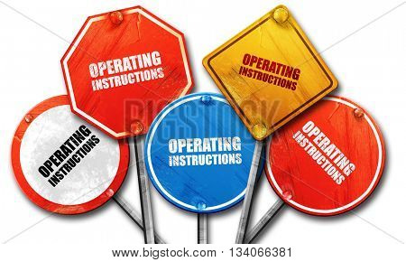 operating instructions, 3D rendering, rough street sign collecti