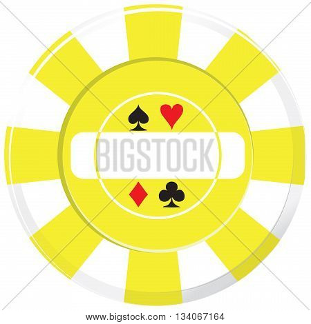 Option of playing casino chips. Vector illustration.