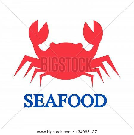 Crab icon on white background vector illustration