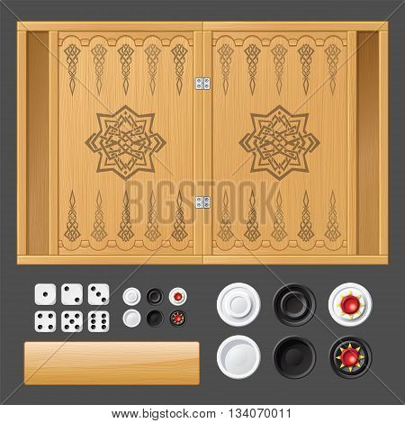 The pattern for the game of backgammon