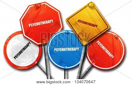 psychotherapy, 3D rendering, rough street sign collection