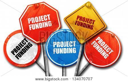 project funding, 3D rendering, rough street sign collection