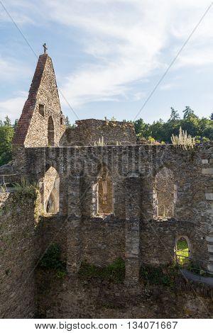 medieval castle ruin Schauburg - church - Austria