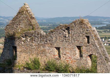 Parts of the medieval castle Schaunberg in Hartkirchen - Austria