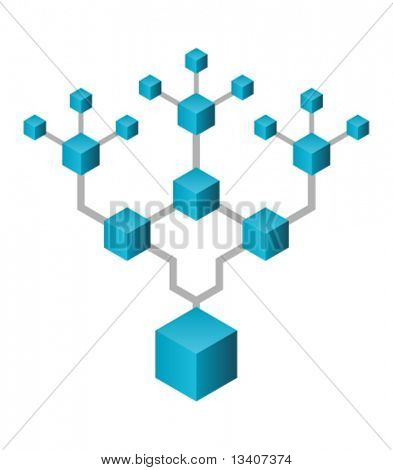 Abstract  network tree