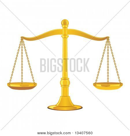Vector gold scales icon