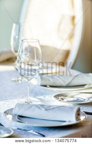 table set for meal