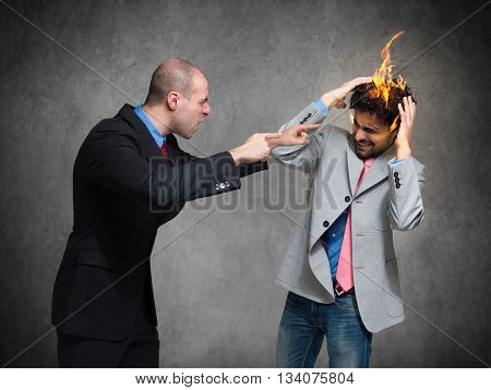 You're fired! Conceptual image of a businessman