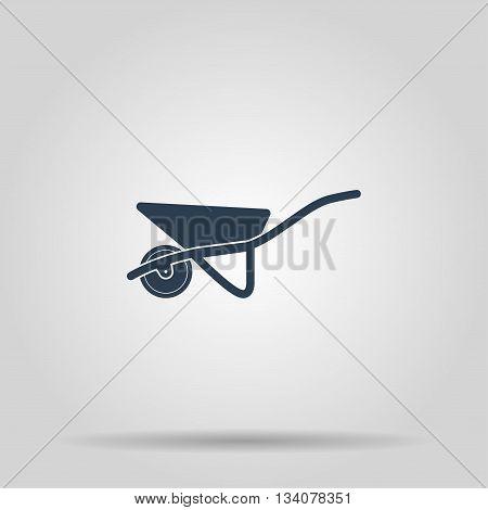 Wheelbarrow cart icon. Concept illustration for design.